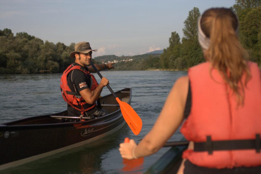 Kanutour mit Guide auf dem Altrhein