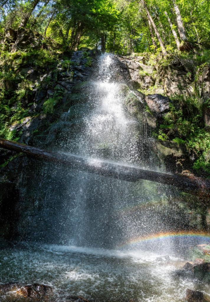 Der Zweribachwasserfall im Bannwald. So schön kann Wildnisentwicklung sein.